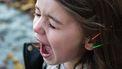Verwend kind dat schreeuwt