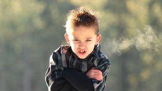jongetje is boos