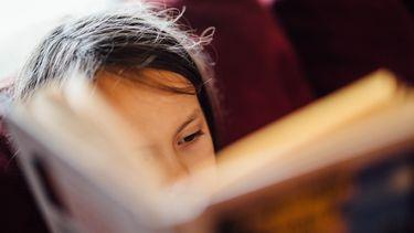 Kind dat een boek aan het lezen is