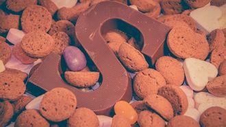 Pepernotenen een chocoladeletter S