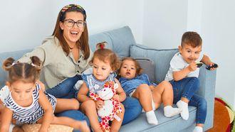 moeder van vier kinderen